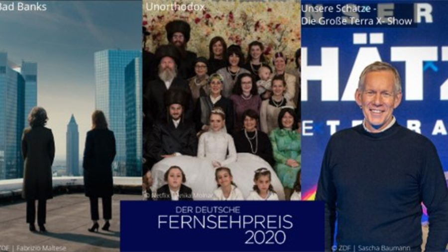 Deutscher Fernsehpreis 2020: Drei Deutsche Fernsehpreise für die Studio Hamburg Production Group